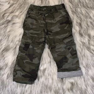 Toddler Lined Army Cargo Pants